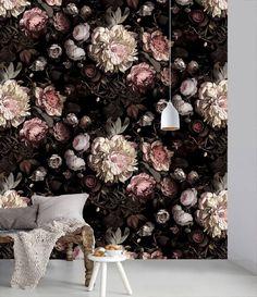 'dark floral II' wallpaper by ellie cashman.