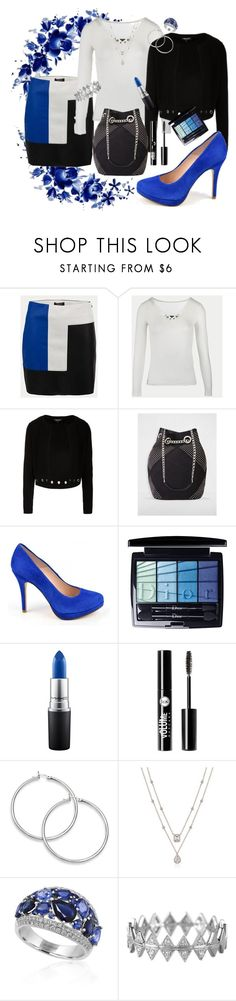 """""""Blue emotions"""" by delphine-delphe on Polyvore featuring mode, Christian Dior, MAC Cosmetics, Charlotte Russe, Effy Jewelry et Bony Levy"""