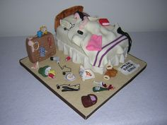 Cake...messy bed...cool for a 21st