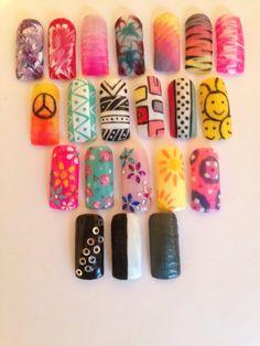 Festival summer Gellux nail designs