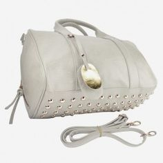 Gray Studded Purse