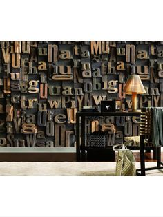3 D wallpaper is the latest trend and can even be magnetic