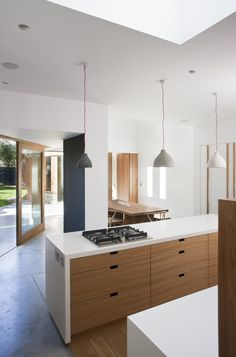 Dublin-based architects Peter Legge Associates inject a sense of humor and a dose of color into a kitchen extension and remodel of a Victorian house. Archi