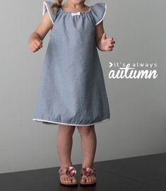 Tutorial: Little girl's flutter sleeve peasant dress