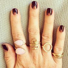 Janna Conner Pink Opal, Snake and Diamond Auréole Ring