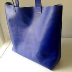 Scared Stitchless: Leather Tote Bag