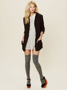 Free People Poetic Verse Sweater Blazer at Free People Clothing Boutique.....CHeck out the leg sweaters!!!!! LOVE
