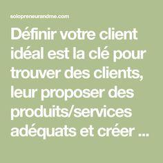 Définir votre client idéal est la clé pour trouver des clients, leur proposer des produits/services adéquats et créer votre stratégie de communication.