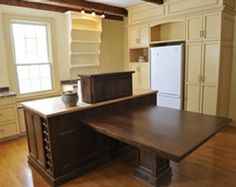 Your Choice of Kitchen Table Island Combination : Kitchen Island Table Combo