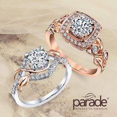 Romantic Rose Gold: would you wear just a hint or go all out? Parade Design and Amour Jewellers. www.ParadeDesign.com Please Like, Comment and Share.