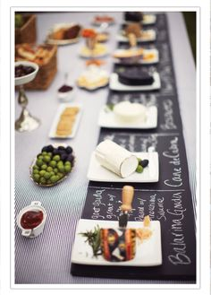 Dinner party entertaining diy - chalkboard painted cheese board