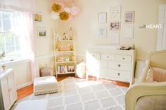 A beautiful, airy, feminine baby girl nursery design | withHEART