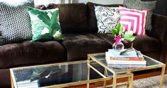 The #DIY For A Perfect Gold and Glass Coffee Table | Homesessive #IKEAhack