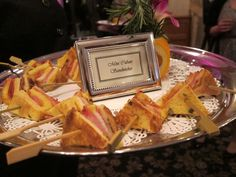 Mini Cuban sandwiches appetizer wedding