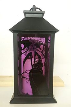 12 Inch Halloween Lantern w Light Up LED Candle  Reaper and Raven Scene *** Check out the image by visiting the link.