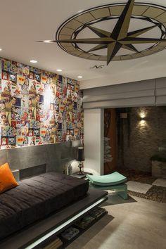 Suíte Rapaz - Casa Cor 2014 Pernambuco : Quartos modernos por Celia Beatriz Arquitetura