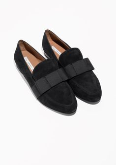 & Other Stories Suede Loafers in Black, 695kr