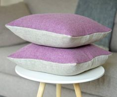 This gorgeous woollen tweed and linen cushion is handmade in the UK. Its pretty pink/purple heather tweed front is just the perfect splash of colour to brighten Color Splash, Pretty In Pink, Pink Purple, Tweed, Personalized Gifts, Irish, Unique Gifts, Cushions, Throw Pillows
