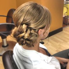 A side bun that would be cute for a wedding