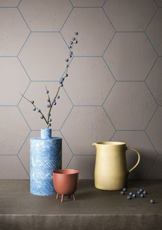 The new floor and wall coverings for 2018 are intended to customise the home such as MUSA+ Fiandre?s new collection of porcelain surfaces Garage Interior, Home Interior, Modern Interior Design, Interior Decorating, Interior Ideas, Hexagon Wall Tiles, Coloured Grout, Bathroom Design Inspiration, Kitchen Inspiration