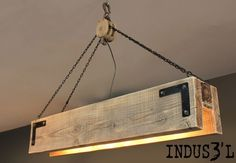 Wood Beam & Pulley Chandelier Great looking wood beam chandelier with pulley & chains. Available in many different finishes and sizes. As pictured: 48 x 9 x 12 with 4 sockets. The post Wood Beam & Pulley Chandelier appeared first on Wood Diy. Lustre Industrial, Industrial Chandelier, Wood Chandelier, Pendant Lighting, Industrial Lighting, Light Pendant, Simple Chandelier, Rectangular Chandelier, Industrial Wallpaper