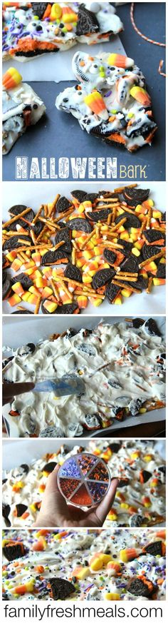 Halloween Bark - Fun Halloween Food for kids! - FamilyFreshMeals.com