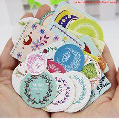 38 개/대 DIY 귀엽다 소녀 귀여운 동물 종이 스티커 창조적 인 빈티지 로맨틱 사랑 선물 일기 장식 스크랩북