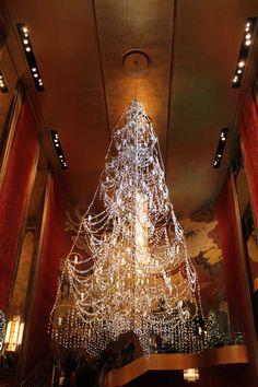 Chrhistmas Tree Chandelier, Radio City Music Hall, New York City