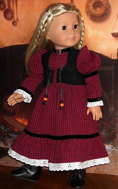 Julie red check 1 by Sugarloaf Doll Clothes, via Flickr