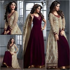 Buy Now @ http://www.ethnicduniya.com/product/cream-purple-banarasi-silk-and-velvet-salwar-kameez/  Cream Purple Banarasi-Silk and Velvet Salwar Kameez  Make the heads flip the moment you costume up with this desirable Purple Salwar Gown. The lovely Resham & Butta Work work a substantial attribute of this attire.  Product Code : EDSR96  Price : 5810 INR  @ www.ethnicduniya.com  #anarkali #anarkalisuit #onlineanarkali #anarkalidesigns #salwarkameez #salwarsuit #salwarsuitonl..