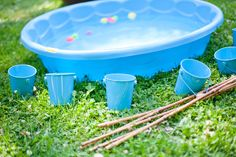 Greyson's Cute, Camping-Inspired First Birthday Party: Summer is the season for camping, and A Little Savvy Event used every kid's favorite outdoor overnight experience as a jumping-off point for one cute first birthday party.