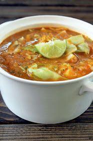 Cabbage tortilla soup