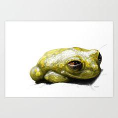 African Frog Art Print