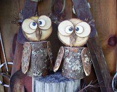 Owl, Rustic Log Owl, Decorative Owl, Handmade, Rustic, Reclaimed Wood Owl