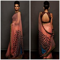 This pink georgette saree features thread and zari work peacock on pallu and pearl work detailling on border. It comes with unstitched sleeveless blouse.  Title : Onion pink georgette sari. Size : Free Color : Peach Fabric : Georgette Type : Embroidered Occasion : Festive Wedding Ceremony Party Neck Type : Round Neck Sleeve Type : Sleeveless  Sale Price : 2300 INR Only ! #Booknow  CASH ON DELIVERY Available In India ! World Wide Shipping !  For orders / enquiry  WhatsApp @ 91-9054562754 Or…