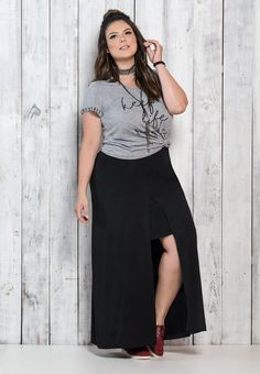 Descubra como usar a saia longa Estilo Próprio von Sir saia longa - Damen Mode Plus Size Looks, Plus Size Tips, Plus Size Model, Curvy Fashion, Girl Fashion, Fashion Outfits, Plus Fashion, Cheap Fashion, Fashion Women