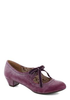 Stacks or Fiction Heel in Berry | Mod Retro Vintage Heels | ModCloth.com