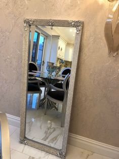 Living Room Mirrors, Wall Mirrors, Living Rooms, Glam Mirror, Body Mirror, Mirror Makeover, Custom Mirrors, Dressing Mirror, Upcycled Home Decor