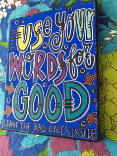 Good words painting