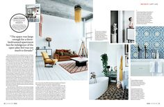 Layout with lots of white space and overlap editorial design magazine, magazine layout design, Interior Design Magazine, Interiors Magazine, Magazine Layout Design, Editorial Design Layouts, Editorial Design Magazine, Essay Layout, Booklet Layout, Page Layout Design, Magazin Design