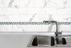 """Classic Marble  - 3""""x6""""Calacatta Wall  Tile - Anatolia Tile"""