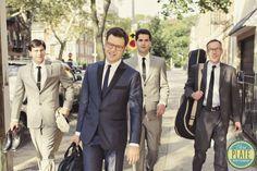 vintage wedding groomsmen | Retro-inspired-groom-and-groomsmen-attire.full