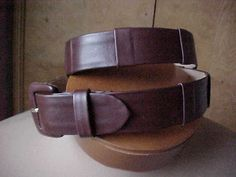 Giorgio Armani gender bender Leather Belt 32 unisex Original Owner