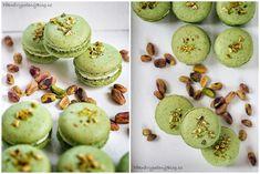 Pistáciové makronky Pistachio macarons www.peknevypecenyblog.cz