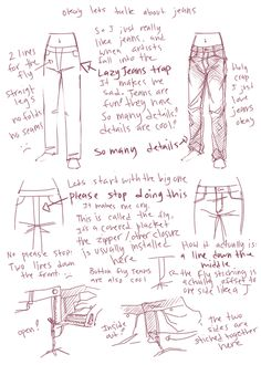 how to draw jeans.