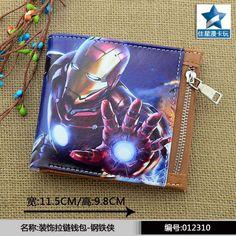 Iron Man Horizontal Zipper Wallet   17.99$