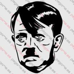 Pegame.es Online Decals Shop  #face #celebrity #realistic #hitler #nazi #vinyl #sticker #pegatina #vinilo #stencil #decal