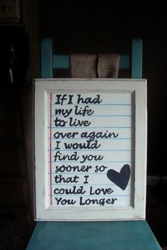 I'm not sure it would have worked if we'd met earlier, but I love the thought of loving you longer. I would do my life all over again if it meant falling in love with you again. You are the love of my life. Cute Quotes, Great Quotes, Inspirational Quotes, Phrase Choc, Making Signs On Wood, Tu Me Manques, Love My Husband, Love And Marriage, Relationship Quotes