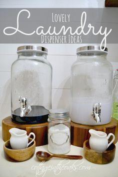 Laundry Room Decor ::: Creative Dispenser Ideas
