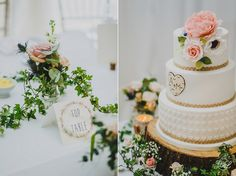The Priory Cottages Near Wetherby Wedding Cake Elegant And Pink